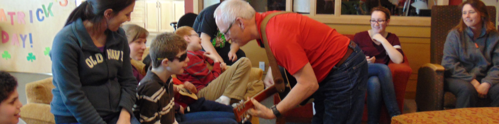 Music time at Rotary Home